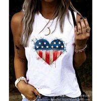 Women's Tanks & Camis Printed Vest Tank Top Casual Slim Summer Fashion O-Neck Sleeveless Pullover Tops 2021
