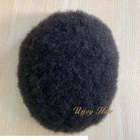 Hohe Qualität Männer Perücke Toupee Natürliche Farbe Brazilianische Niestein Haar-Mann-Toupee für schwarze Männer