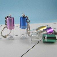 Anahtarlıklar 3 ml Şeffaf Cam Şişe Anahtarlık Kolye Parfüm Küçük Vida Ağız Fetal Saç Uçucu Yağ Beş Renkler.