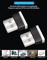 자동차 USB 분위기 빛 LED가없는 장식 빛 내부 자동차 발판 자동차 분위기 빛 어댑터 A08