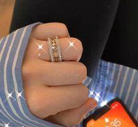 European and American 2021 Nouveau Petit petit parfum Lettre Diamant Anneau Xiangjia Température De Mode Simple Ring Femelle