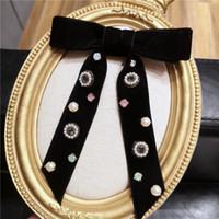 Корейский бархатный галстук бабочка сладкий колледж брошь жемчужный горный хрусталь рубашка шейный холбой для женщин униформа бабочка