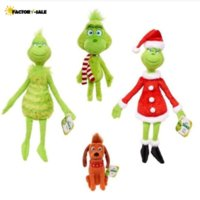 Grinch Stole Plush Toys Grinch stuffed toy Max Dog Doll Soft Stuffed Cartoon Animal Peluche for Kids Christmas Gifts FO19