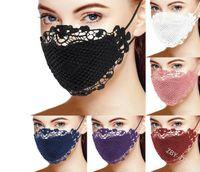 핑크 블루 레이스 격자 무늬 입 얼굴 마스크 Muti 색상 빨 수있는 마스 카릴 코튼 블랙 퍼플 호흡 가능한 mascherine 재사용 가능한 패션 여자 레이디
