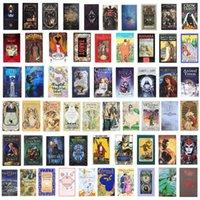220 Stil Tarotkarten Spiel Oracle Golden Art Nouveau Die grüne Hexe Universal Celtic Thelema Steampunk Tarots Board Deck Spiele DHL Großhandel