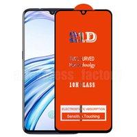Protetor de tela 21D de colagem completa Prova de vidro temperado protetor de cobertura de cobertura curvada protetor de cinema para Samsung Galaxy A01 A11 A21 A31 A41 A51 A61 A71 A81 A91