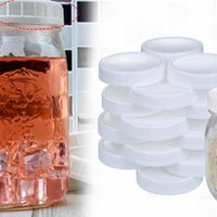 Kitchen Storage & Organization Mason Jar Lids Ribbed Plastic Cup Lid For Regular Mouth Cannings Leakproof Bottle Caps Cover