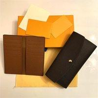 جودة عالية 2 قطع مجموعة حامل بطاقة إميلي إمرأة سارة كليمنس الحقيبة pochette accessoires عملة محفظة نيو بورت كرنات المحفظة