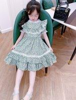 زهرة طفل الفتيات فساتين 2021 الصيف أطفال فتاة الأميرة اللباس الصيف أزياء الأطفال ملابس الشاطئ