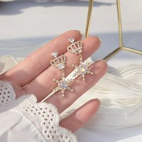 Лекси дневник моды роскошь 14k настоящая позолоченная серьга Имперская корона снежинка для женщин аксессуар ювелирных изделий свадебный подарок