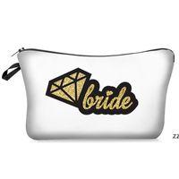 Печатная сумка для подружки невесты Макияж Make Team Tribe Для макияжа Подарочная сумка Предложение Свадьба Bachelorette Party Cosmetic Pouch Hwe7390