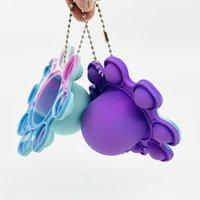 Luminous Keychain Stress Relief Squishy Fidget Toys Octopus Push Bubble Fidget Sensory Toy For Autism Special