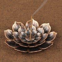 향수 가죽 홈 불교 장식 코일 홀더 로터스 꽃 모양의 불교 장식 코일 / 구리 Zen Budd 502 V2