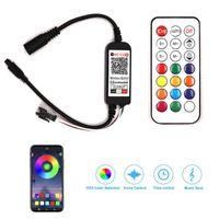 Mobile App BluetooH WiFi LED Contrôleur de LED pour la bande LED RGB de 5V 12V 24V avec la minuterie Connecteur de commande vocale USB DIMMER