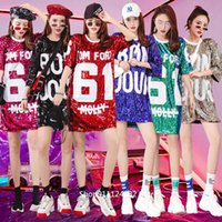 Women's T-Shirt 2021 Korean Version Of Modern Dance Costumes Female Jazz Cheerleading Annual Sequined