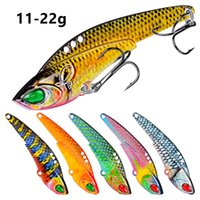 6 Colors Mixed VIB Spoons Metal Baits & Lures 11 12 17 22g 8 6# Hook Fishing Hooks Pesca Tackle Accessories WA_500