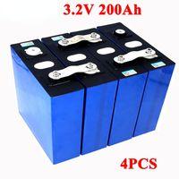 4 adet 3.2 V 200AH LIFEPO4 LITHIUM Pil Paketi 4 S 12 V 24 V Yat Güneş RV Güç Kaynağı Için 3C Demir Fosfat