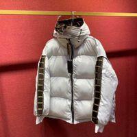 Unisex Mens 다운 코트 양면 패션 문자 스트링 재킷 겨울 두꺼운 윈드 브레이커 캐주얼 후드 파카 3 색 아시아 크기