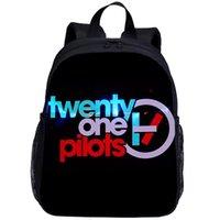 Backpack Mini Backpacks Kids Boys Girls Twenty One Pilots Letter 3D Printing Bookbag School Bag 13 Inch Satchel Rucksack Mochila Escolar