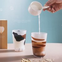 Wine Glasses Creative Cute Cat Paws Glass Tiger Mug Office Coffee Tumbler Personality Breakfast Milk Porcelain Cup Gift