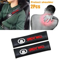 Safety Belts & Accessories VEHICAR 2PCS Car Seatbelt Shoulder Pad For GREAT WALL Logo Knitting Seat Belt Cover Comfortable Driving