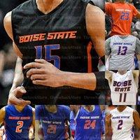Пользовательские Штаты Boise Broncos Баскетбол Дерьрик Деррик Альстон Джастинский Джессап RJ Williams Abu Kigab Hobbs Hutchison Emmanuel Akot Doutrive Smith Shavaver Jr.