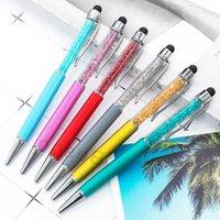 Fine Crystal Ballpoint Pen 1mm Fashion Creative Stylus Touch Pen Writing Stationery Office School Ballpen Black Ballpoint Pens