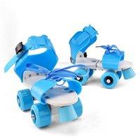 Inline & Roller Skates Children 2021 Kids Sneaker Adjustable Size Double Row 4 Wheels Skating Shoes