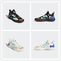 2021 Nouvelle arrivée Harden Vol. 5 Chaussures de basket-ball rétro Gao Bang Hommes Noir et Blanc Gris et Bleu Mens Baskets Sports Sneakers Sports