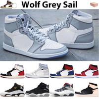 Wolf Cinza Sail 1 Sapatos de Basquete Homens Mulheres Sneakers União Los Angeles Negro Azul Toe 6S Anéis Fibra Carbono Instrutores Olímpicos de Fibra Carbono