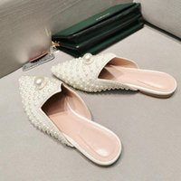Sandals XGRAVITY 2022 Princess Soft Pointed Toe Flat Shoes Pearl Design Outdoor Ladies Fashion Flats Female Summer Slippers