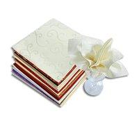 25 pçs / lote guardanapo de mesa de 48 cm Pano de lenço de bolso de tecido quadrado para decoração de casamento Evento Party Hotel Home Suprimentos