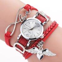 Tasarımcı Lüks Marka Saatler ES Kadınlar için Gümüş Kalp Kolye Deri Kemer Kuvars Saat Bayanlar Bilek Bilezik Zegarek Damski
