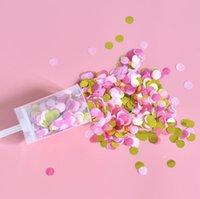 Papier poussant Confetti Mariage Partie de mariage Papier Push Tube Sharming Papier Décoration DIY Push POP fournitures GGA4225