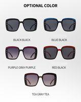 مصممي العلامة التجارية مع شعار للجنسين نظارات شمسية عالية الجودة UV400 ملصق الأزياء الفاخرة الكلاسيكية الصيف الشاطئ القيادة