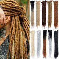 1 paket (5 adet) 20 inç el yapımı dreadlocks uzantıları reggae tığ hip-hop synthetic dreads tığ örgü saç moda kadınlar için