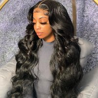 레이스 가발 바디 웨이브 13x6 프론트 자연 색 인간의 머리카락 흑인 여성 레미 브라질 스트레이트 전면 가발