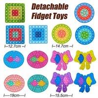 Fidget détachable Poussez des jouets à bulles ANTI-STRESS DÉCOMPRESSION BOISSON EQUIPE DU POISSON TOINT JOUE À DÉCOUT DU POIGHT TRAMBLE COURS SQUARE FORMES GWE8798