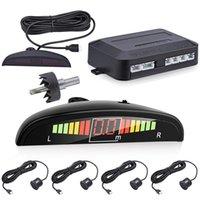 Car Rear View Cameras& Parking Sensors Parktronic LED Sensor Kit Backlight Display With Switch Reverse Backup Radar Monitor Detector System