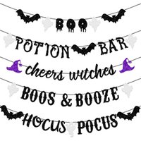 New Halloween flag pulling Letter Banner Party Decoration Products Drawing