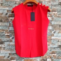 Frauen T-shirts Sommer Mode Design Schwarz Weiß Rot Buchstaben gedruckt T-shirts Baumwolle Casual Tees Kurzarm Tshirts Gute Qualität Tr001