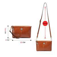 Вечерние сумки IMYOK 2021 Heakyide Pure Color Brand Bag Bag Bag Luxury Высококачественная сцепление Женщины Винтаж Зиппы Мини и Кошелек