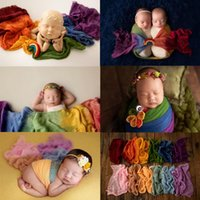 Blankets & Swaddling MOMLUVBB Born Baby Pography Props Rainbow Wrap Posing Wraps Blanket 50x260 For Studio Shooting Accessories Po