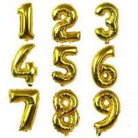 헬륨 공기 풍선 번호 편지 모양의 골드 실버 풍선 ballons 생일 결혼식 장식 이벤트 파티 소모품 OOB5356
