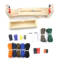 Multifuncional Multifunctable Pulseira de Paracord com cabos Bukles Maker Paracord Braiding Tecelando Kit de ferramentas de artesanato DIY