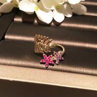 Open Ajustable Diamond Zirconia Flower Deja Bonitos Anillos Diseñador de Lujo Anillos de Moda Para Mujeres Girls Regalos