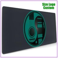 Mouse Pads & Wrist Rests Teal Blue And Black Acoustic Electric Guitars Yin Yang Pad With Support Gel Alfombrilla Escritorio Pc Gamer Complet