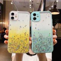 Роскошные Bling Foil Glitter Hard PC CAMPE для iPhone 13 12 Mini 11 Pro Max XR XS X 8 7 6 IPhone13 Star Gradient прозрачный Confetti Sequin Flake Clean Conder
