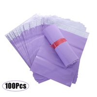 Packing Bags 100Pcs Purple Courier Mailer Packaging Poly Package Plastic Self-Adhesive Mailing Express Bag Envelope Postal Pouch