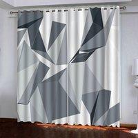 Custom Blackout шторы для гостиной спальни окна занавес геометрия фото занавес